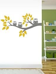 Cartoon albero jiubai® e muro gufo decalcomania della parete dell'autoadesivo