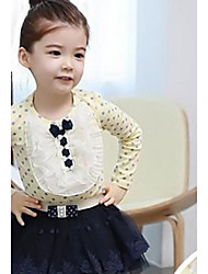 povoljno -Pamuk Zima Proljeće Jesen Dugih rukava Bluza Bijela Pink