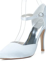 cheap -Women's Shoes Satin Spring Summer Stiletto Heel Hollow-out for Wedding Party & Evening White Pink Silver Blue Purple