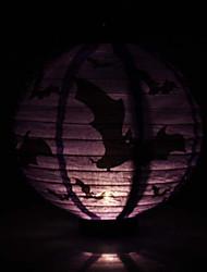 Purple Bats Pattern Lantern Holloween Decoration(Bulb Excluded)