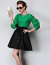 economico -tutto vestito di corrispondenza di stile occidentale delle donne aosishan