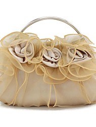 cheap -Women's Bags Silk Evening Bag Flower for Wedding Burgundy / Champagne / Ivory