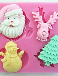 cheap -Christmas Claus Tree Deer Snowman Fondant Cake Tools Cake Mold,Baking Tool