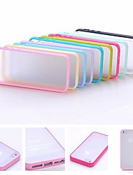 cheap -Multi-Color Soft TPU Frame Gel Translucent Scrub PC Hard Back Case for iPhone 4/4S(Assorted Color)