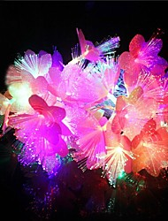 baratos -20-levou 4m decoração de natal flores coloridas à prova d'água luz LED RGB luz da corda (220v)