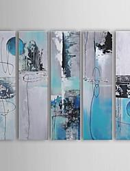 abordables -Peinture à l'huile réalisée à la main abstraite sur canevas tendu - Set de 5