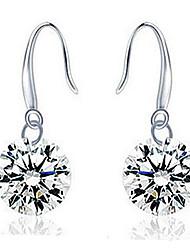 Femme Boucles d'oreille goutte bijoux de fantaisie Argent sterling Zircon Bijoux Pour