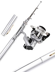 cheap -Fishing Rod + Reel Fishing Rod Mini Rod / Pen Rod Pen Rod FRP Spinning Rod & Reel Combos