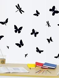 Недорогие -настенные наклейки наклейки для стен, бабочка стрекоза домашний декор пвх наклейки