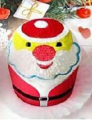 Birthday Gift Santa Clause Shape Fiber Creative Towel (Random Color)