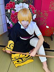 Inspireret af Gintama Gintoki Sakata Anime Cosplay Kostumer Cosplay Kostumer Top Bukser Talje Tilbehør Kappe Til Herre