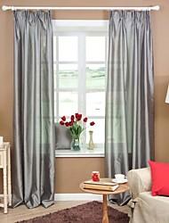 baratos -Sheer Curtains Shades Quarto Sólido Poliéster Jacquard