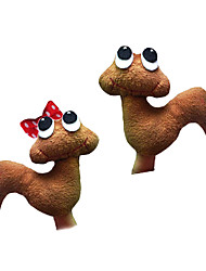 2PCS The Garden's Worm Plush Finger Puppets Kids Talk Prop