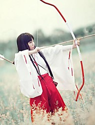 economico -Parrucche Cosplay InuYasha Kikyo Anime Parrucche Cosplay 80 CM Tessuno resistente a calore Per donna
