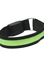 LED Light Arm Band Strap Armband Green  (2xCR2032)
