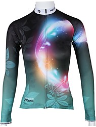 cheap -ILPALADINO Cycling Jersey Women's Long Sleeves Bike Jersey Top Quick Dry Breathable 100% Polyester Floral / Botanical Spring Summer