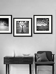 economico -Animali Tele con cornice / Set con cornice Wall Art,PVC Nero Passepartout incluso con cornice Wall Art