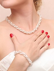 cheap -Women's Pearl Wedding Party Special Occasion Anniversary Birthday Engagement Pearl Necklaces Bracelets