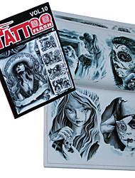 abordables -fantômes et lutins de livres de motifs de tatouage