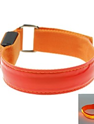 cheap -LED Light Color Lattice Arm Band Strap Armband Red (2xCR2032)