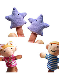 cheap -Finger Puppets Puppets Cute Lovely Novelty High Quality Textile Plush Girls' Gift 4pcs