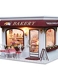 Недорогие -поделок миниатюрные деревянные торт ручной работы игрушки магазин модель Прованс кукольный дом головоломки