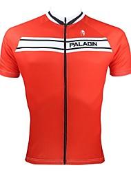 ILPALADINO Cykeltrøje Herre Kortærmet Cykel Trøje Toppe Cykeltøj Hurtigtørrende Ultraviolet Resistent Åndbart Patchwork Fritidssport