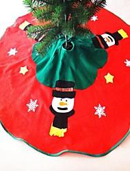gonna albero di Natale decorazione pupazzo di neve diametro 100 centimetri