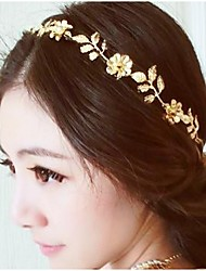 cheap -Women's Girls' Ladies Floral Basic Flowers Alloy Head Jewelry Headbands