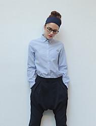 Недорогие -TS женщин лацкан шея все соответствующие досуг рубашка