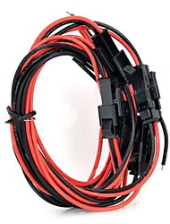 2Pin PC Plug Wires - Black + Red (5 PCS / 40cm)