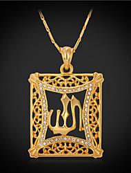 povoljno -Sintetički dijamant Kristal Umjetno drago kamenje Pozlaćeni Imitacija dijamanta Ogrlice s privjeskom Vintage ogrlica - Kristal Umjetno