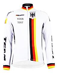 Kooplus Jaqueta para Ciclismo Homens Mulheres Unisexo Manga Longa Moto Camisa/Roupas Para Esporte Blusas Térmico/Quente Forro de Velocino