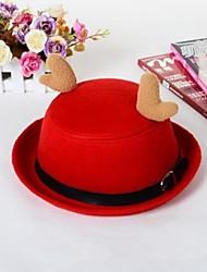 Chapéus de bowling unisex de Natal com chifres clássicos Billycock Christams Decoração