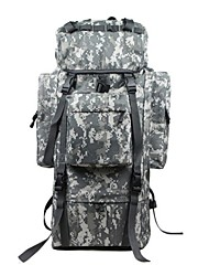 70 L Hiking & Backpacking Pack Rucksack Hunting Climbing Camping & Hiking TravelingWaterproof Rain-Proof Waterproof Zipper Dust Proof