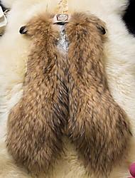 женская искусственный мех норки жилет