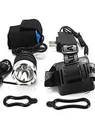 cheap -Headlamps Bike Lights Headlight LED 1800 lm 3 Mode Cree XM-L T6 with Charger Impact Resistant Rechargeable Waterproof