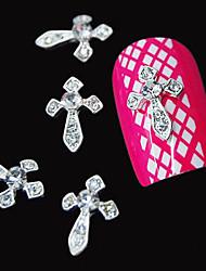 abordables -10pcs argent 3d diamant clair diamant accessoires alliage décoration ongle art