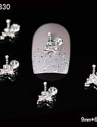 Недорогие -10шт 3d горный хрусталь Эйфелева башня сплав дизайн ногтей DIY Nail Art украшения