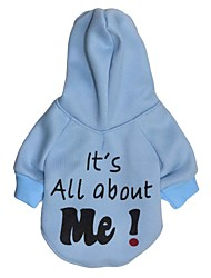 cheap -Cat / Dog Hoodie Dog Clothes Letter & Number Blue / Pink / Light Blue Cotton Costume For Pets Men's / Women's Fashion