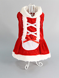 Cat / Dog Dress Red Dog Clothes Winter Wedding / Christmas