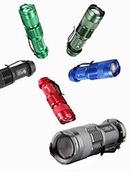 Lanternas LED Lanternas de Mão LED 300 lm 3 Modo Mini para Campismo / Escursão / Espeleologismo Uso Diário Viajar Trabalhar Multifunções