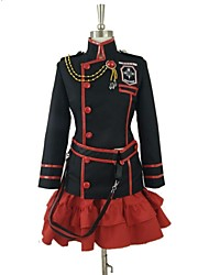 economico -Ispirato da D.Gray-man Lenalee Lee Video gioco Costumi Cosplay Abiti Cosplay Collage Nero / Rosso Maniche lungheCappotto / Gonna /