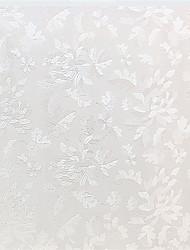 preiswerte -anmutigen Land weiße Blätter Fensterfolie - 0,5 x 5 m (1,64 × 16,4 ft)
