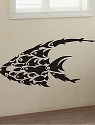 stickers muraux stickers muraux, peintures murales de poissons de décoration murale en PVC autocollants