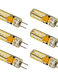 cheap -G4 LED Corn Lights T 24 SMD 3014 100-120 lm Warm White Cool White AC 12 V 6 pcs