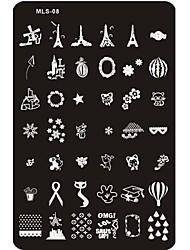 baratos -arte de unha Placa de Carimbar / Outras decorações Abstracto / Clássico / Desenho Adorável Diário / Metal