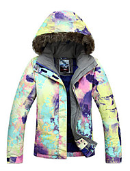 Gsou Snow Outdoor Ink Painting Style Women's Waterproof Skiing Down Jacket