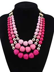 cheap -Women's Shape Personalized Multi Layer European Layered Necklace Statement Necklace Alloy Layered Necklace Statement Necklace