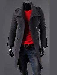 Недорогие -fanzhuo мужская двубортный шерсть мода пальто 1411a / A160